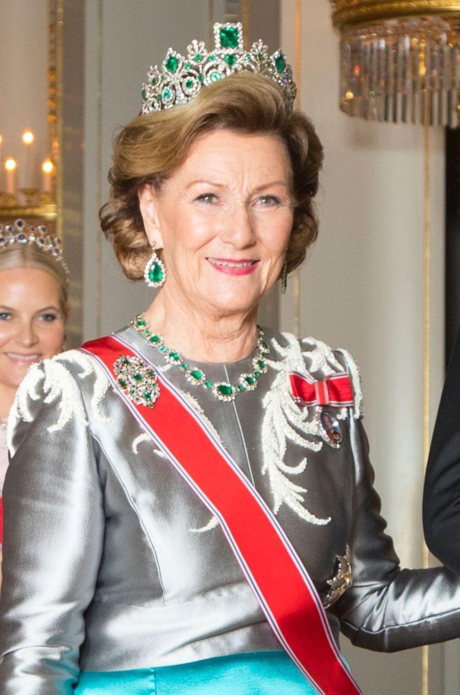 La reine Sonja de Norvège à Oslo, le 26 octobre 2017