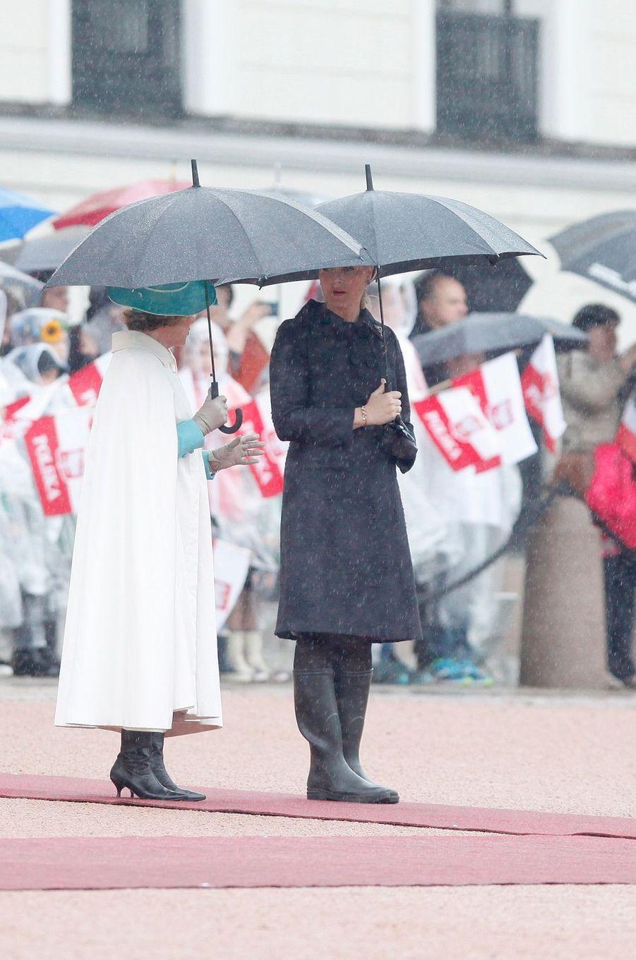 La reine Sonja et le roi Harald V de Norvège à Oslo, le 23 mai 2016