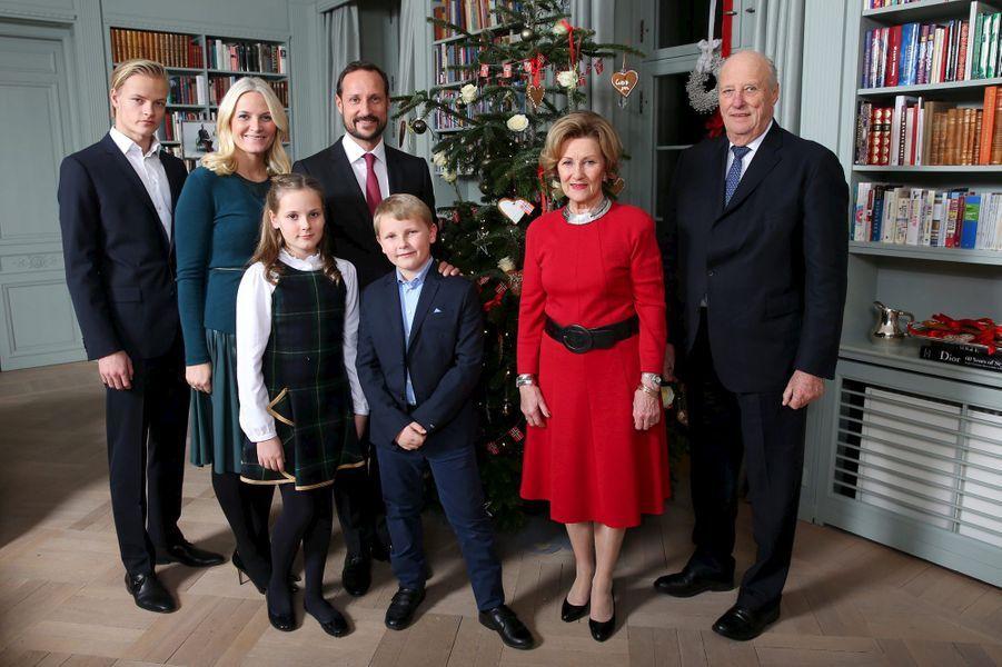 La famille royale de Norvège à Asker, le 14 décembre 2015