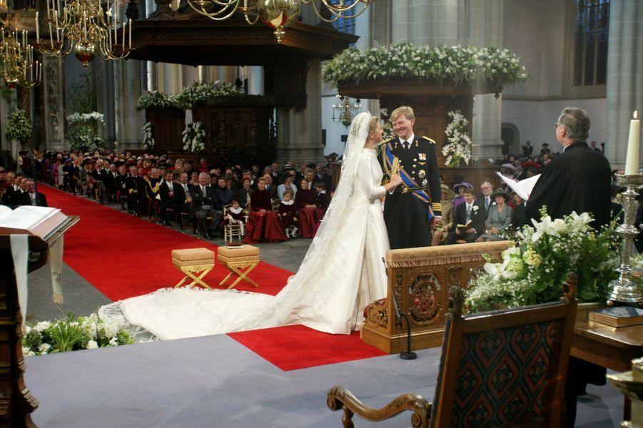 Le mariage de Maxima Zorreguieta et du prince Willem-Alexander des Pays-Bas à Amsterdam, le 2 février 2002