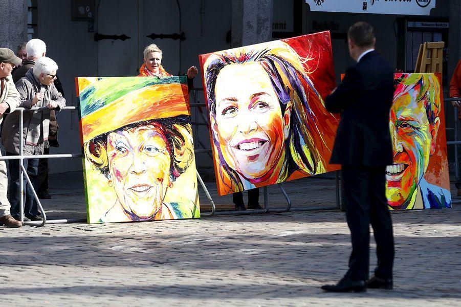 La reine Maxima et le roi Willem-Alexander des Pays-Bas arrivent à Lübeck, le 19 mars 2015