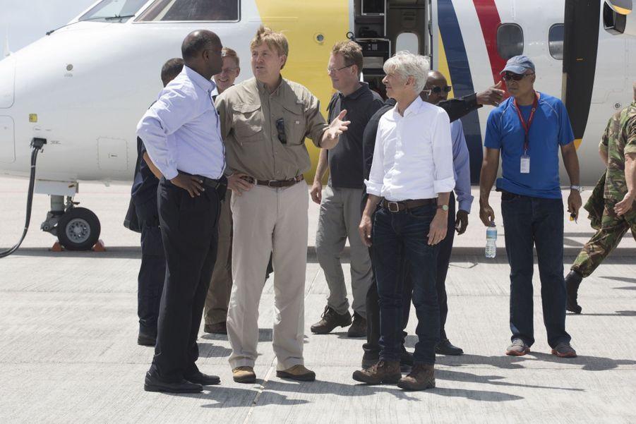 Le Roi Willem Alexander Des Pays Bas Sur L'île De Saint Martin, Le 12 Septembre 2017 4