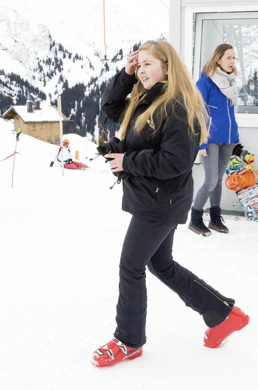 La princesse Catharina-Amalia des Pays-Bas à Lech, le 27 février 2017