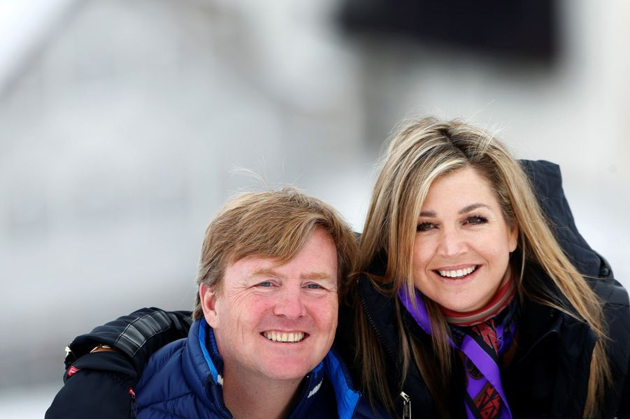 La reine Maxima et le roi Willem-Alexander des Pays-Bas à Lech, le 27 février 2017