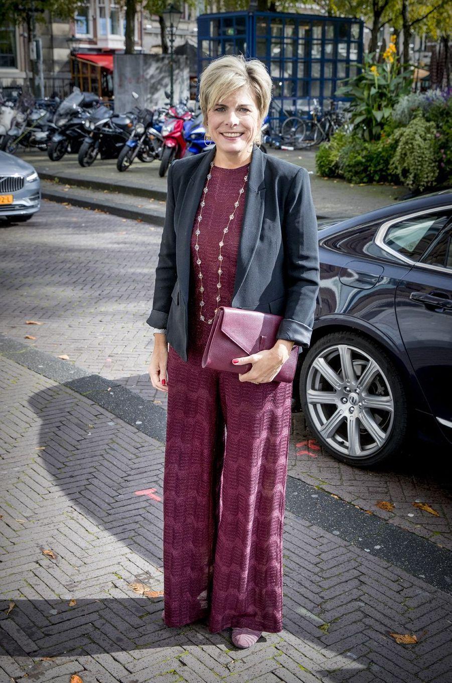 La princesse Laurentien des Pays-Bas, épouse du prince Constantijn, à La Haye, le 3 octobre 2017