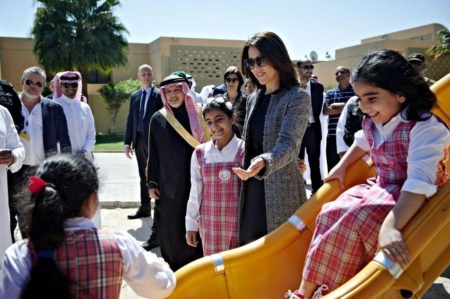 La princesse Mary de Danemark à Riyad, le 1er mars 2016