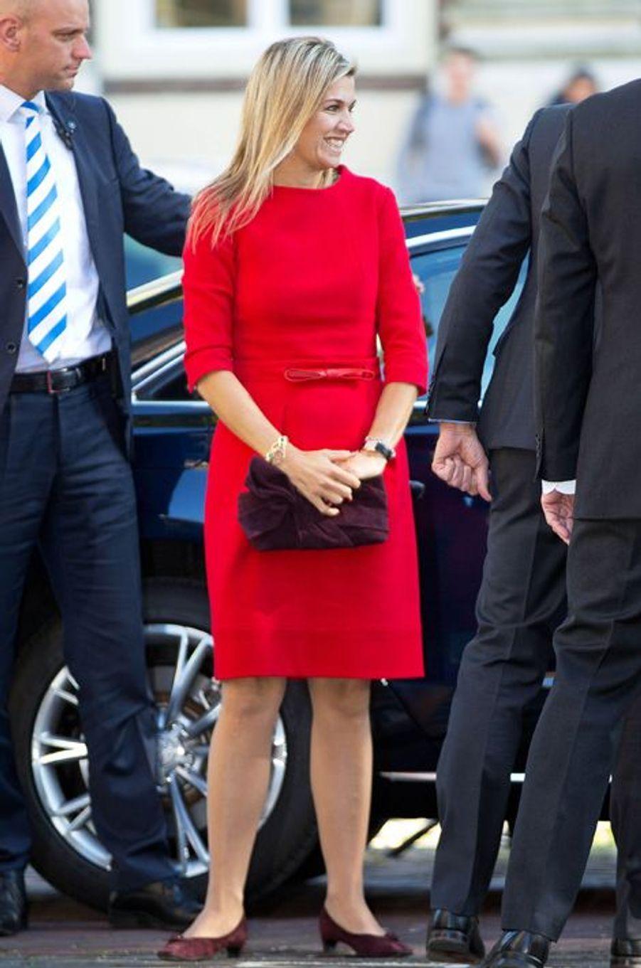 La reine Maxima des Pays-Bas à Leyde, le 1er octobre 2015