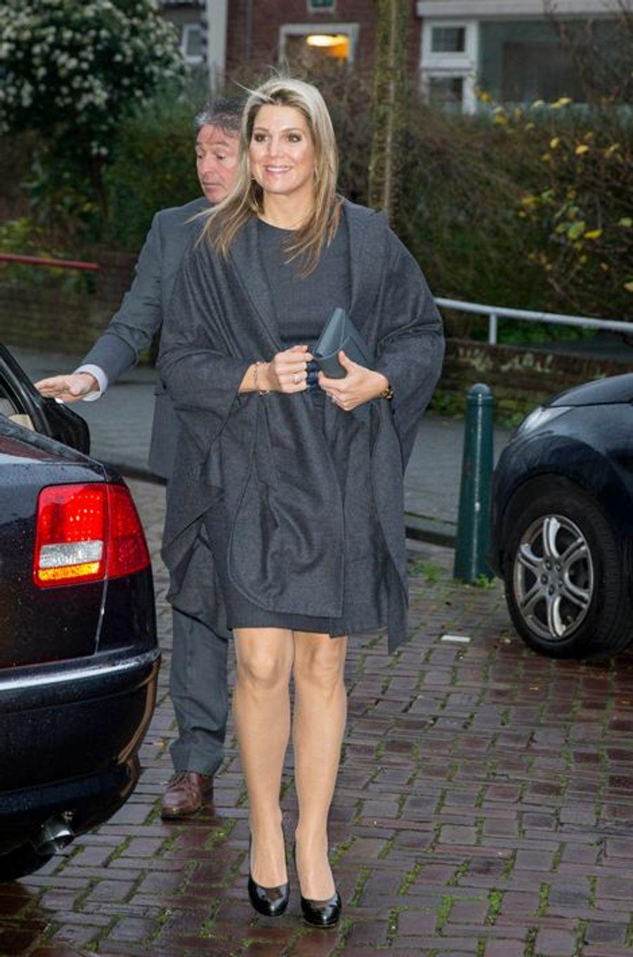 La reine Maxima des Pays-Bas à La Haye, le 16 décembre 2015