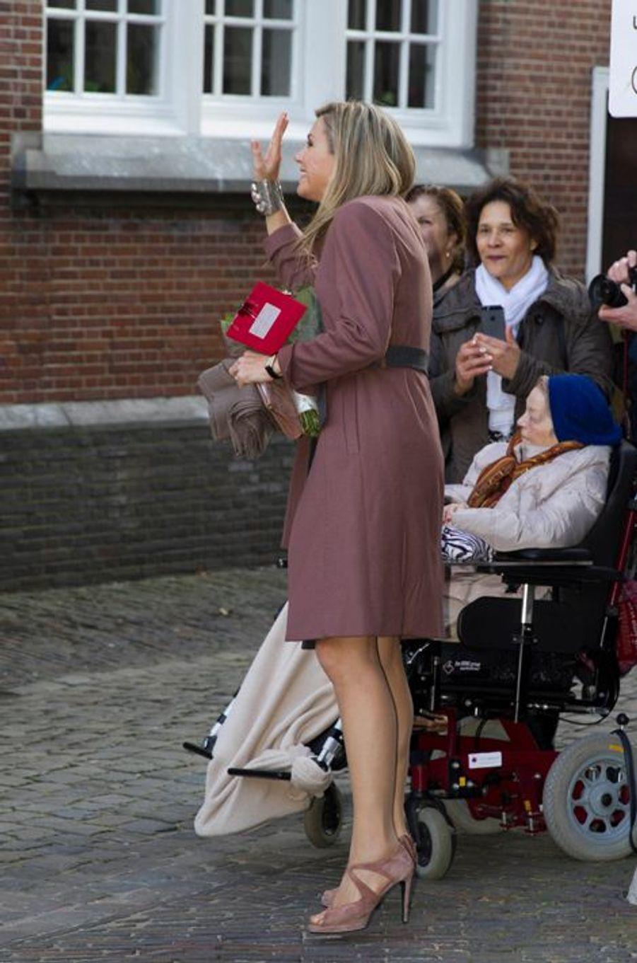 La reine Maxima des Pays-Bas à Leyde, le 17 février 2016