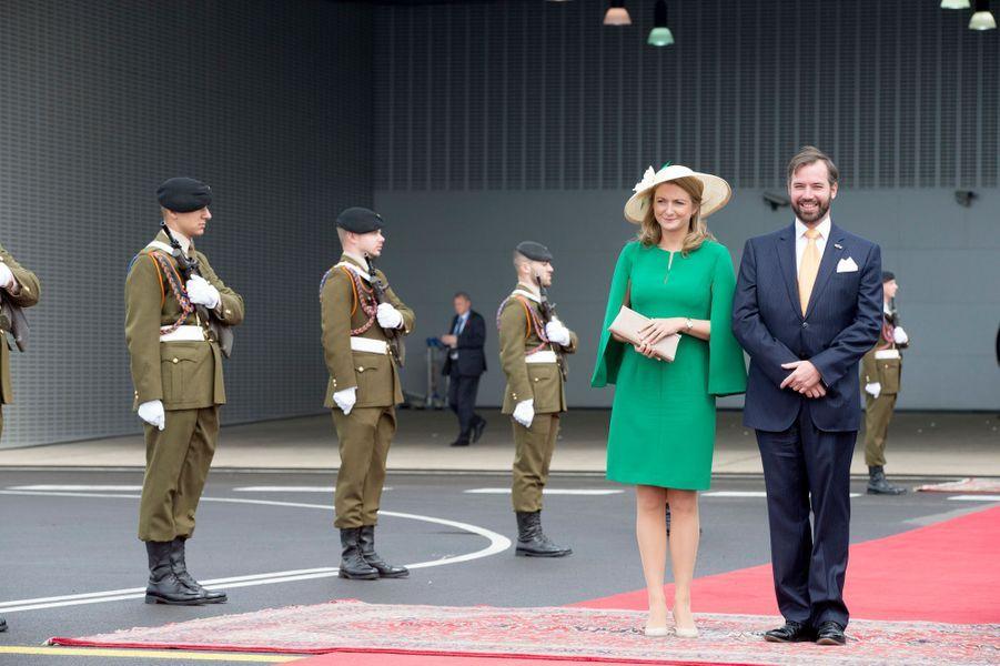 Le prince Guillaume de Luxembourg et la princesse Stéphanie à Luxembourg, le 23 mai 2018