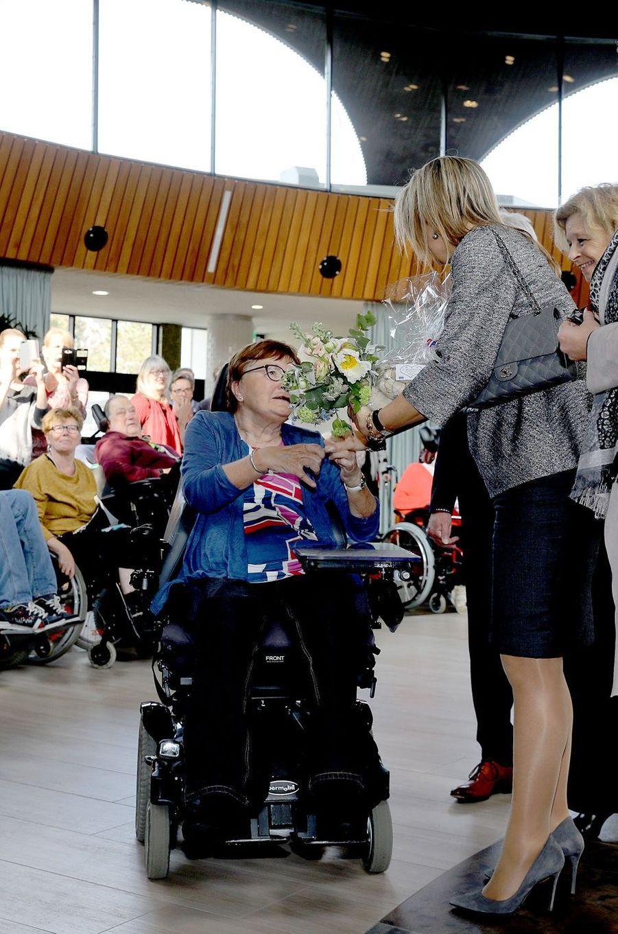 La reine Maxima des Pays-Bas en visite à Zandvoort, le 11 avril 2018