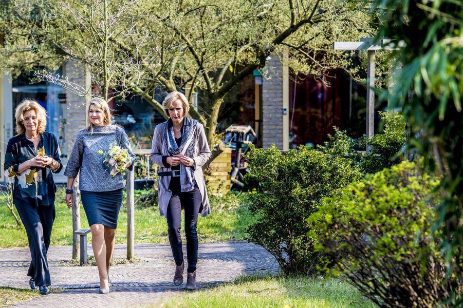 La reine Maxima des Pays-Bas à Zandvoort, ville proche d'Amsterdam, le 11 avril 2018