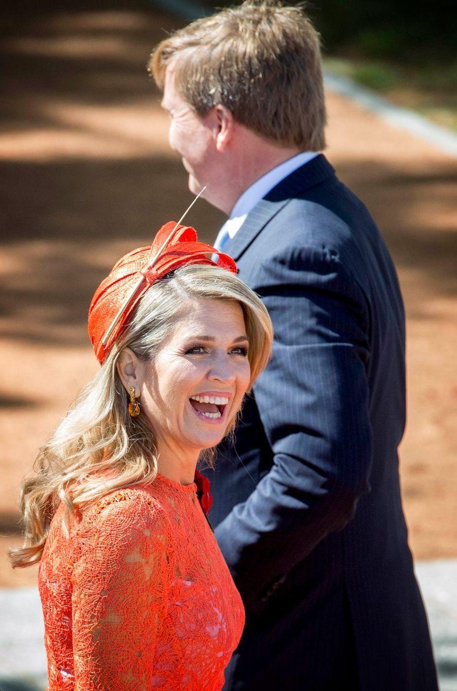 La reine Maxima et le roi Willem-Alexander des Pays-Bas à Canberra, le 2 novembre 2016