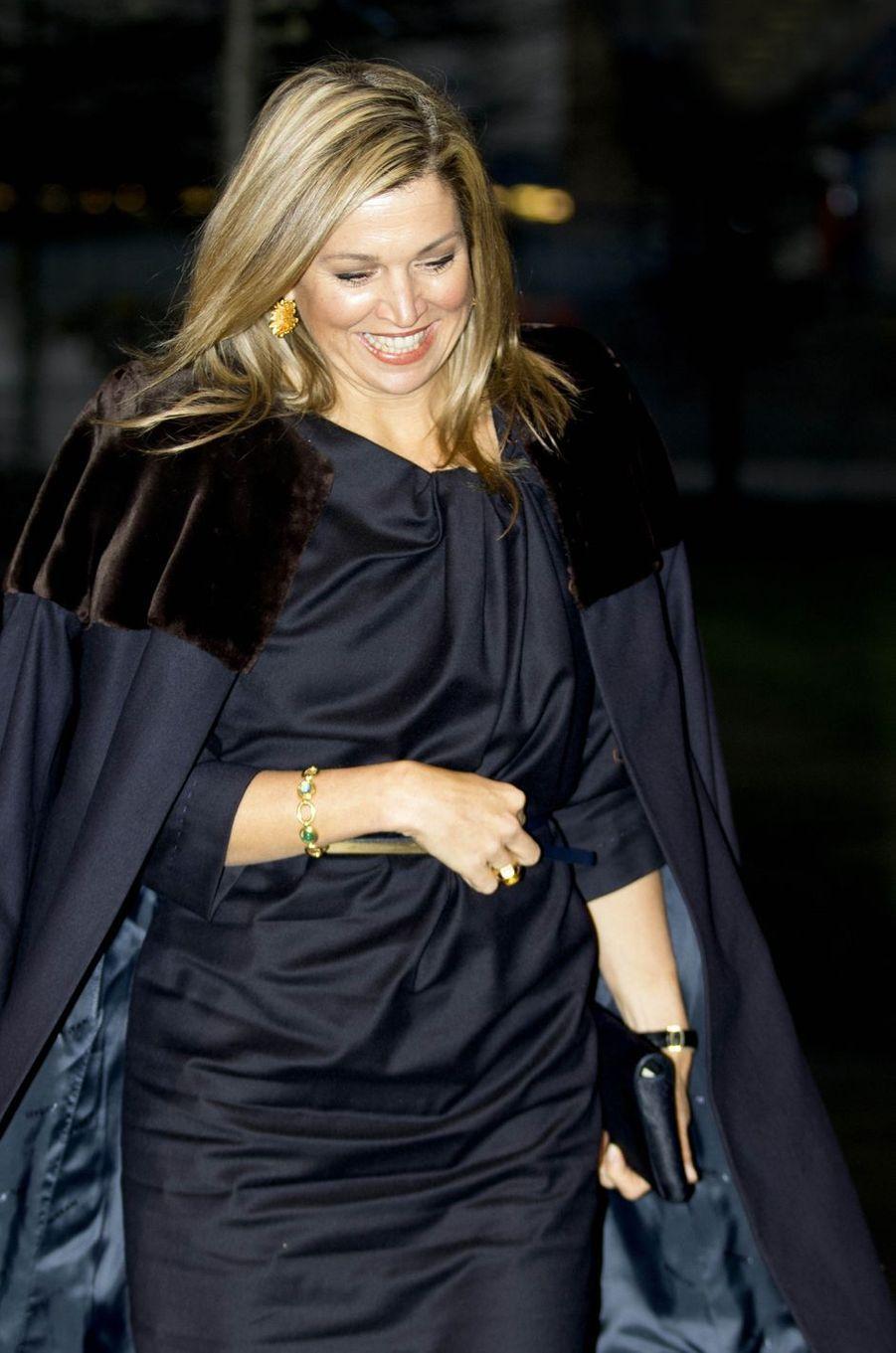La reine Maxima des Pays-Bas à La Haye, le 23 janvier 2017