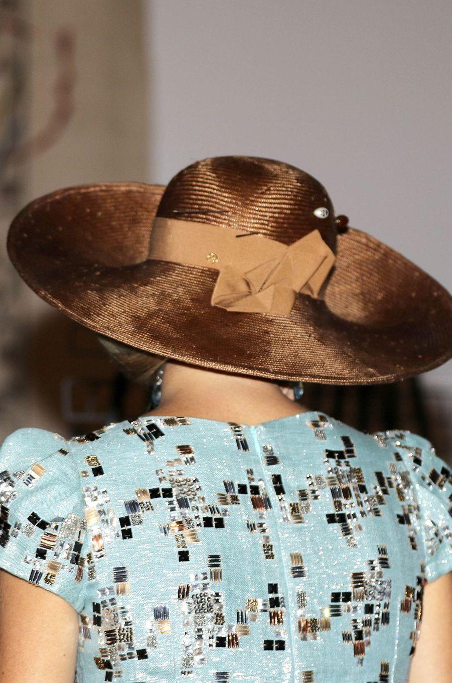 Le chapeau de la reine Maxima et le roi Willem-Alexander des Pays-Bas à Perth, le 1er novembre 2016