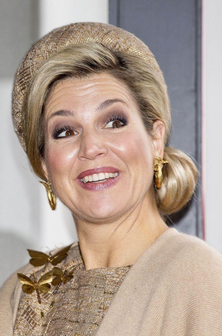La reine Maxima des Pays-Bas à Dessau, le 10 février 2017