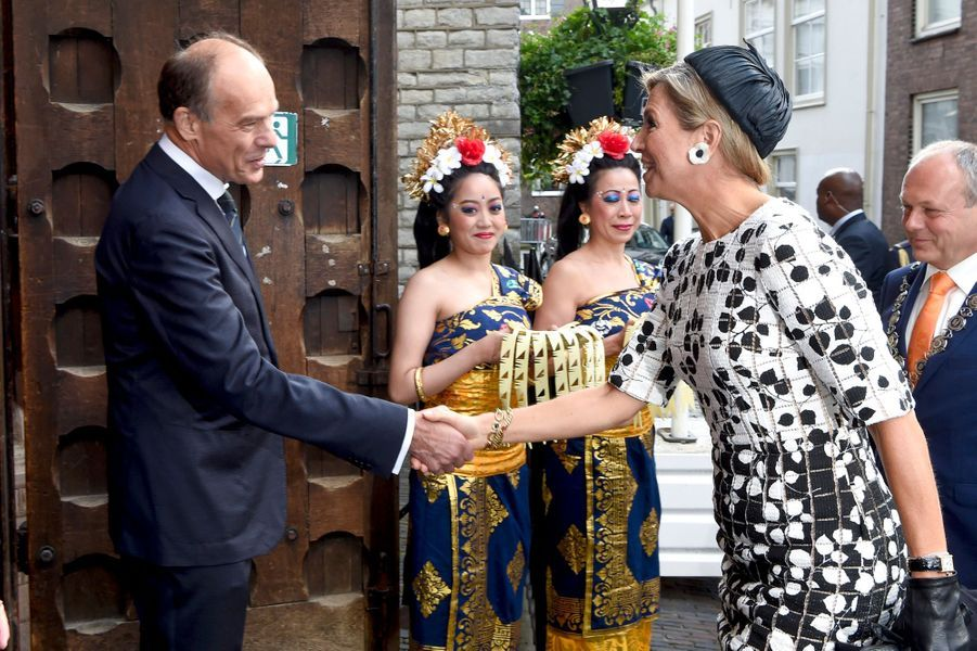 La reine Maxima des Pays-Bas à Leyde, le 14 septembre 2017