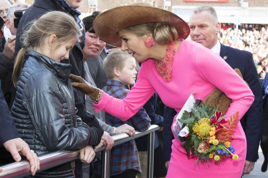 La reine Maxima des Pays-Bas dans le Krimpenerwaard, le 21 février 2017