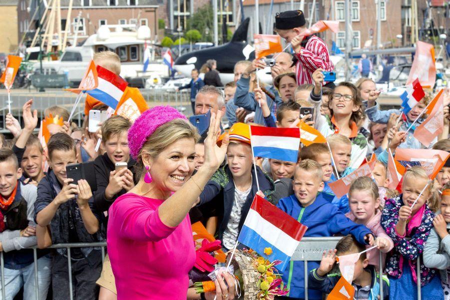 La reine Maxima des Pays-Bas dans le Flevoland, le 29 juin 2017