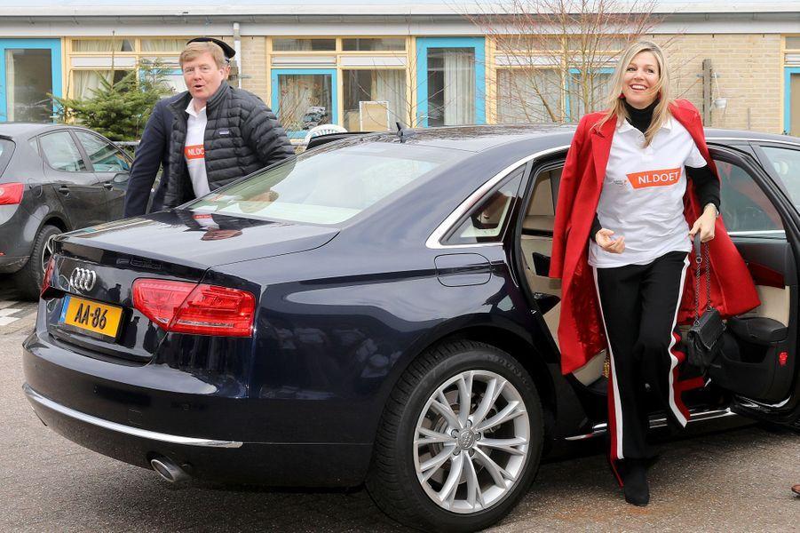 Le roi Willem-Alexander des Pays-Bas et la reine Maxima à Pijnacker, le 10 mars 2018