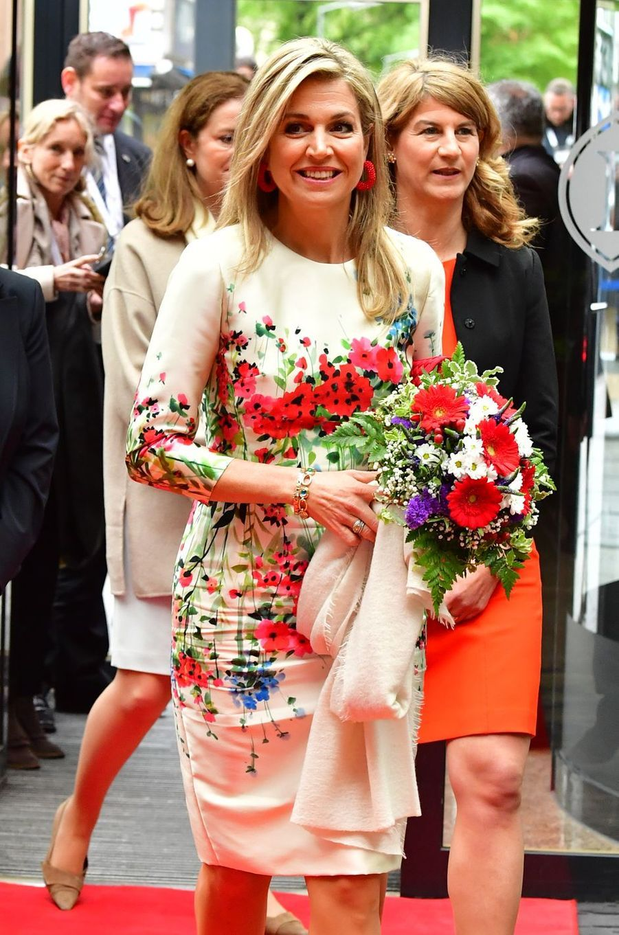 La reine Maxima des Pays-Bas à Berlin, le 25 avril 2017