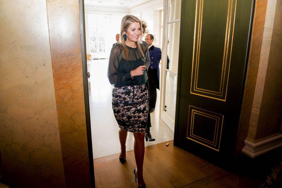 La reine Maxima des Pays-Bas au Palais Noordeinde à La Haye, le 22 mars 2017