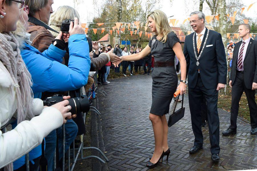 La reine Maxima des Pays-Bas à Aalst, le 2 décembre 2016