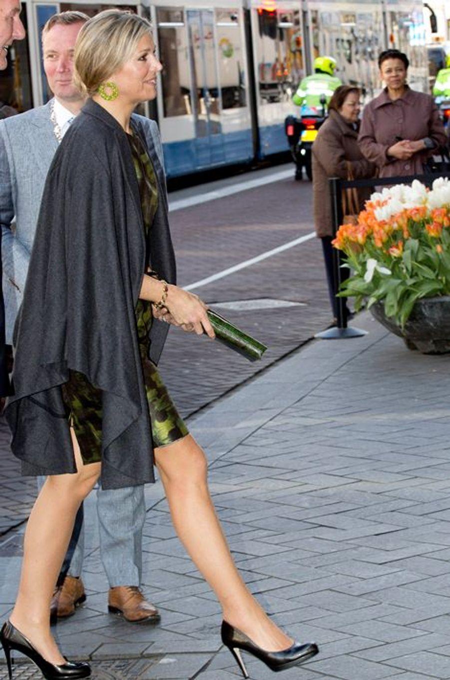 La reine Maxima des Pays-Bas à Amsterdam, le 20 avril 2016