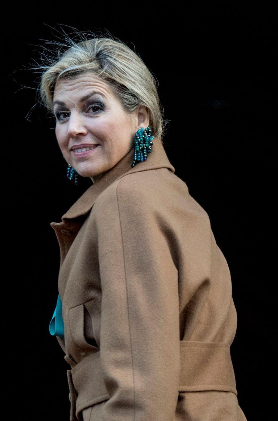 La reine Maxima des Pays-Bas à Amsterdam, le 28 novembre 2017