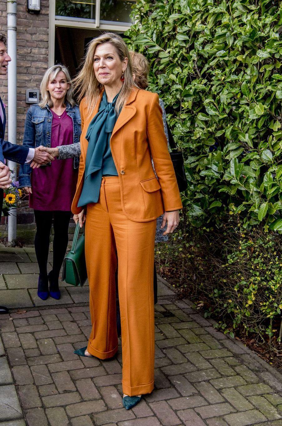La reine Maxima des Pays-Bas à Dordrecht, le 30 janvier 2018