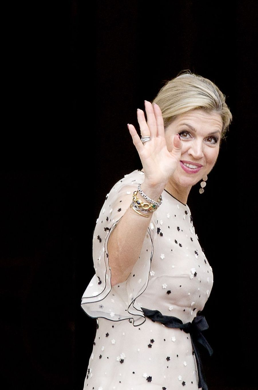 La reine Maxima des Pays-Bas à La Haye, le 18 mai 2017