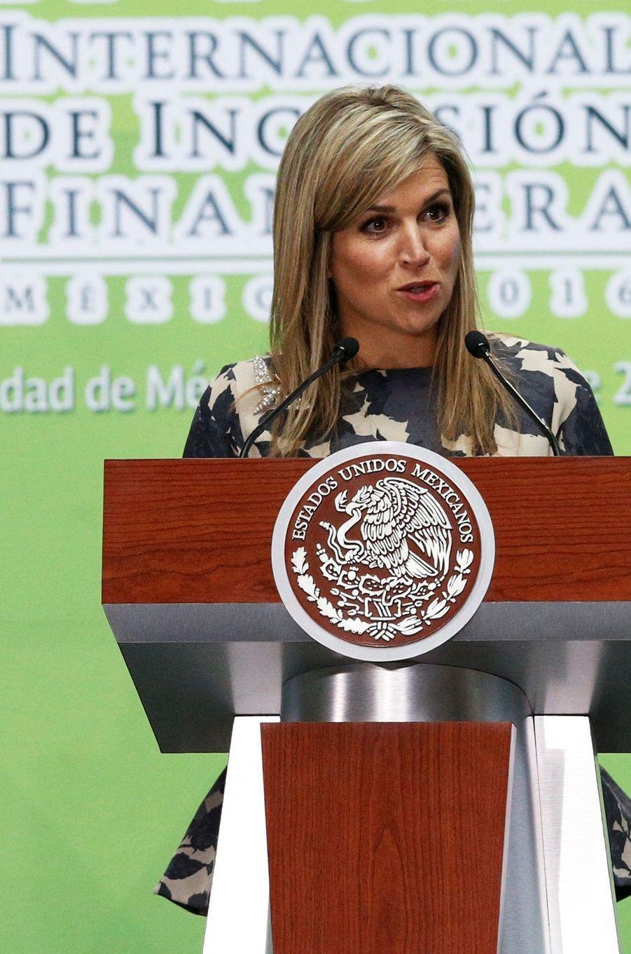La reine Maxima des Pays-Bas à Mexico, le 21 juin 2016