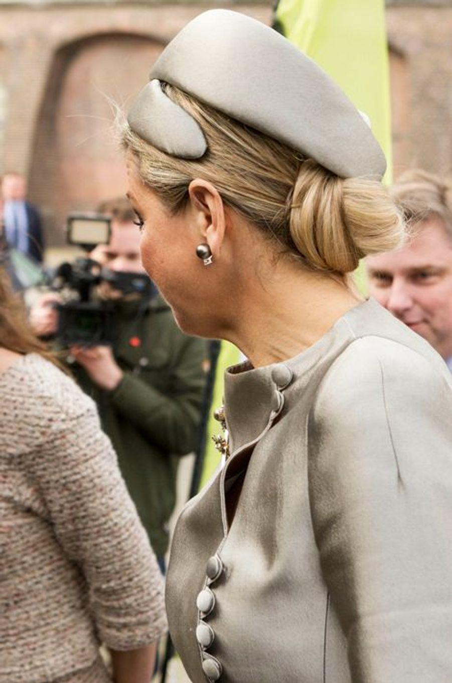 La reine Maxima des Pays-Bas à Amsterdam, le 9 mars 2016
