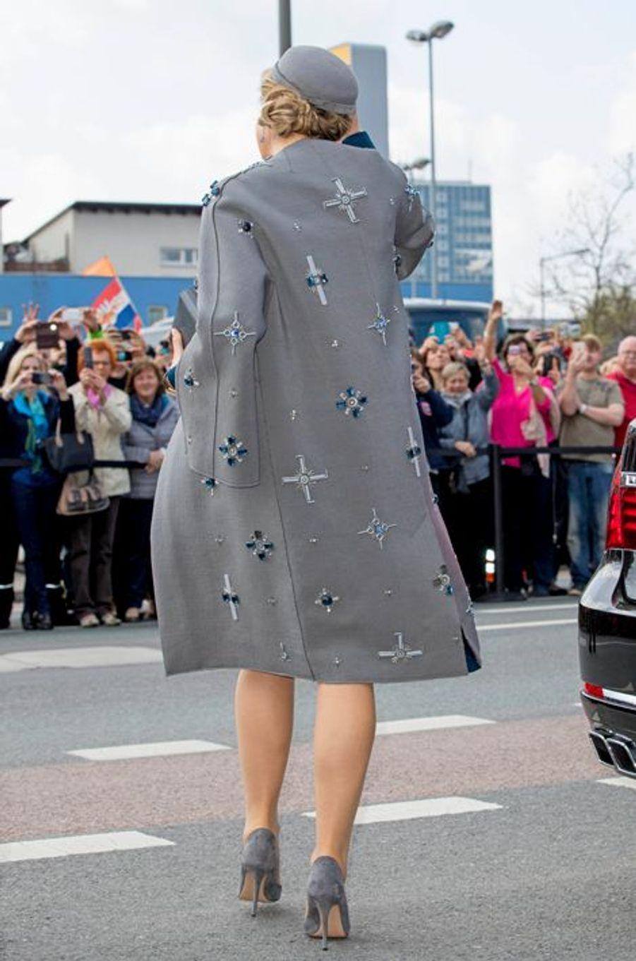 La reine Maxima et le roi Willem-Alexander des Pays-Bas à Erlangen, le 14 avril 2016