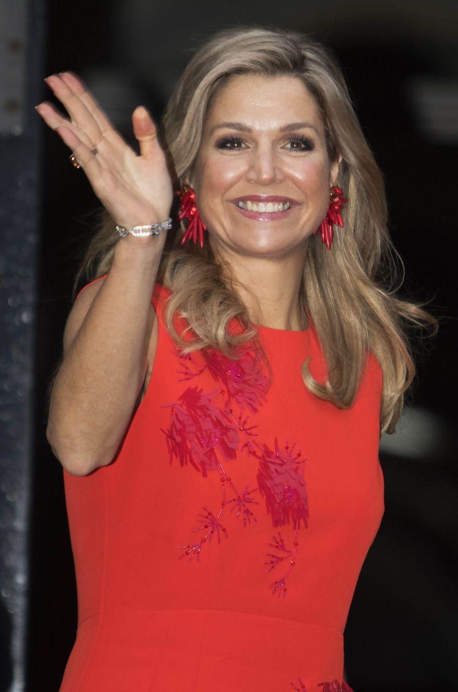 La reine Maxima des Pays-Bas à Amsterdam, le 15 décembre 2016