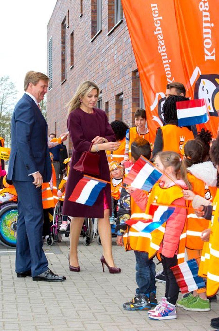 La reine Maxima et le roi Willem-Alexander des Pays-Bas à Amsterdam, le 22 avril 2016