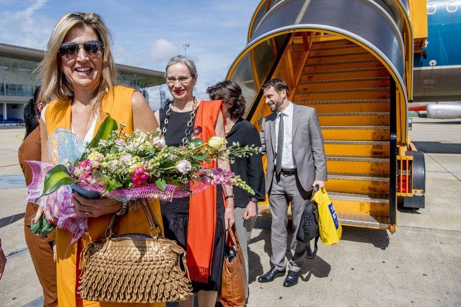 La reine Maxima des Pays-Bas arrive à Da Lat au Vietnam, le 30 mai 2017
