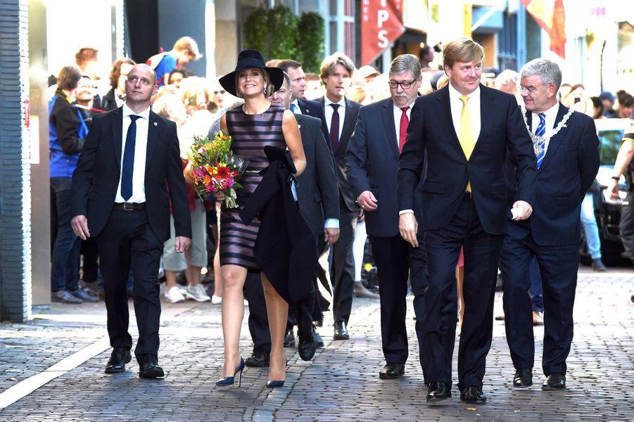 La reine Maxima et le roi Willem-Alexander des Pays-Bas à Utrecht, le 3 octobre 2016