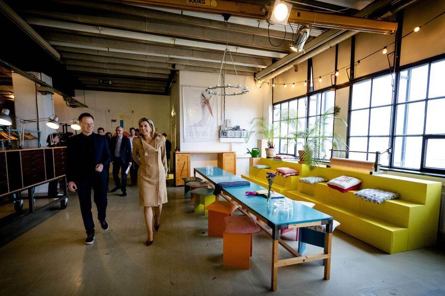 La reine Maxima des Pays-Bas en visite de travail à Eindhoven, le 25 octobre 2016