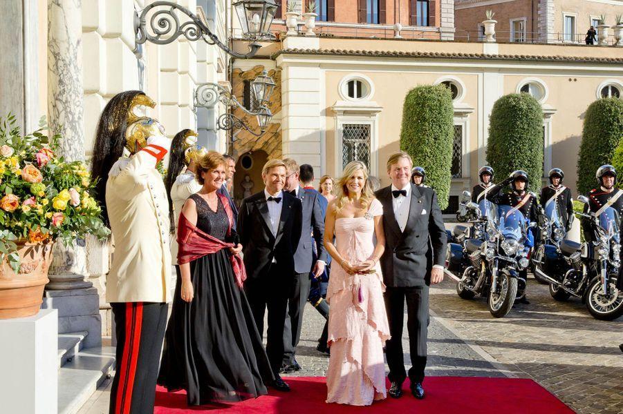 La reine Maxima et le roi Willem-Alexander des Pays-Bas à Rome, le 21 juin 2017