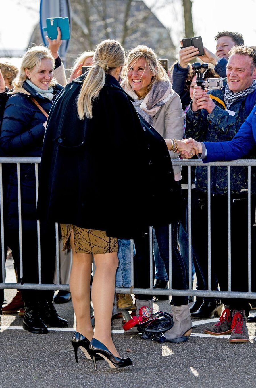 La reine Maxima des Pays-Bas le 7 mars 2017 à Monster