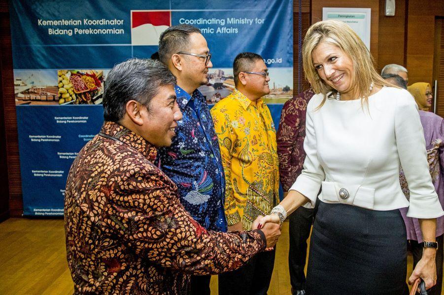 La reine Maxima des Pays-Bas à Jakarta, le 13 février 2018
