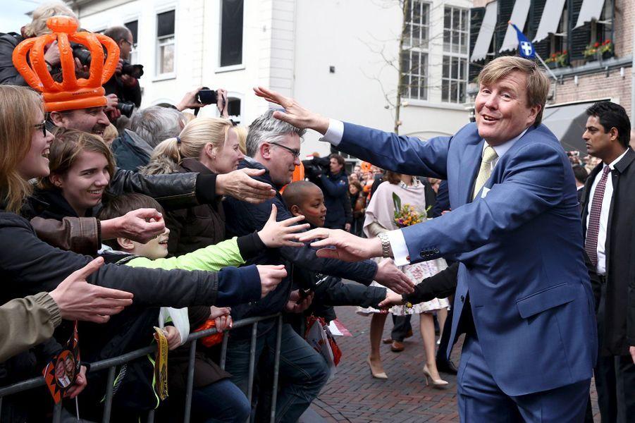 Le roi Willem-Alexander des Pays-Bas à Zwolle, le 27 avril 2016