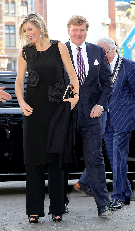 La reine Maxima avec le roi Willem-Alexander des Pays-Bas à Amsterdam, le 18 avril 2018