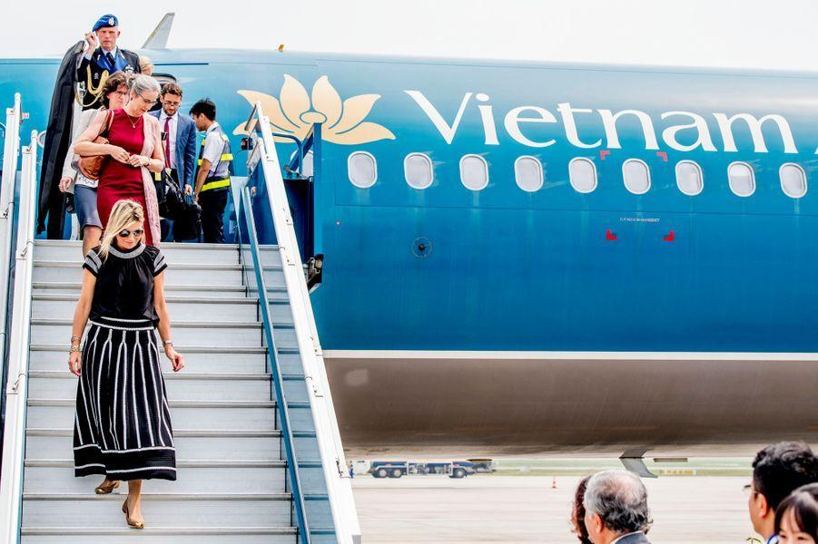 La reine Maxima des Pays-Bas arrive à Hanoï, le 31 mai 2017