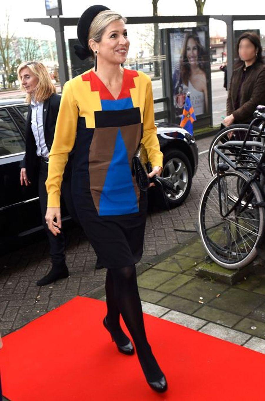 La reine Maxima des Pays-Bas à Amsterdam, le 17 décembre 2015