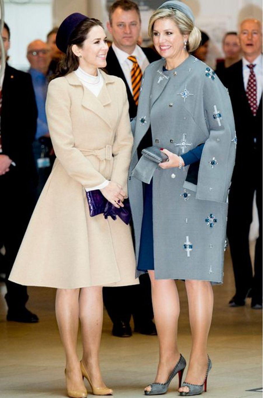 La princesse Mary de Danemark et la reine Maxima des Pays-Bas, le 17 mars 2015