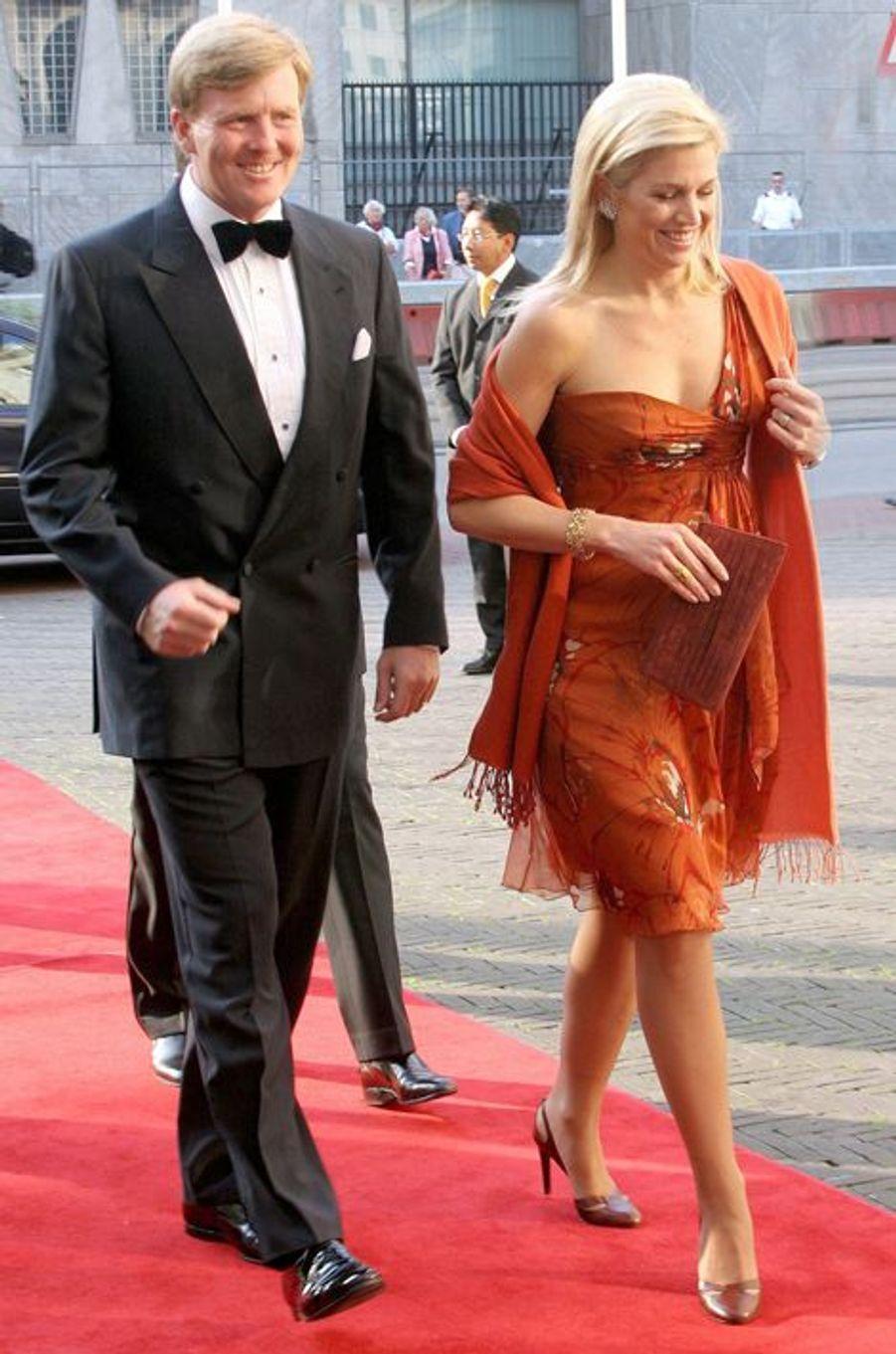 La princesse Maxima des Pays-Bas, avec le prince Willem-Alexander, le 23 juin 2006