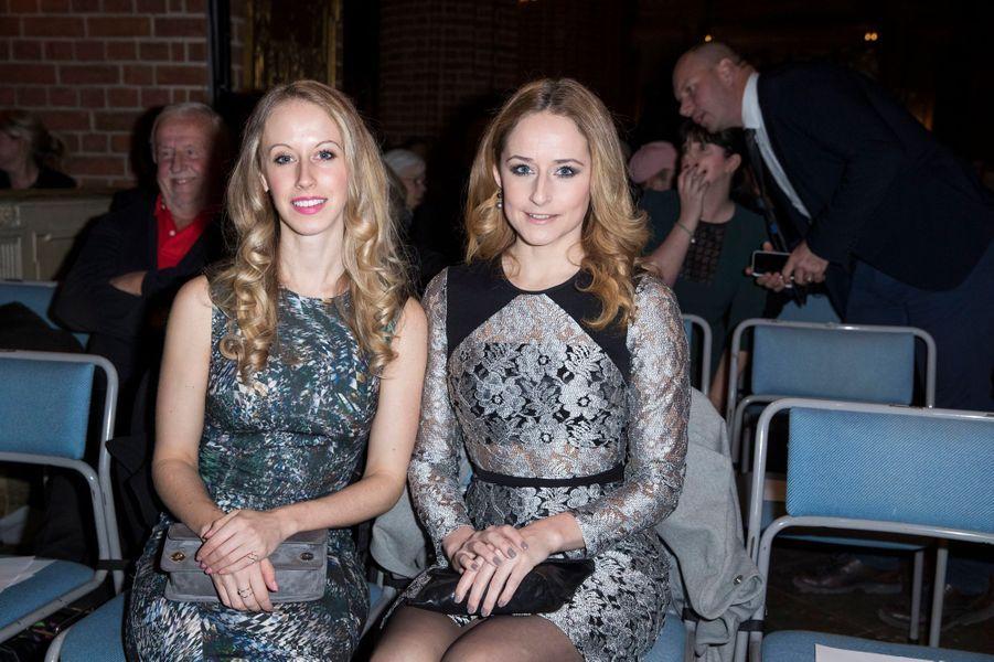 Sarah Hellqvist et Lina Frejd, les soeurs de la princesse Sofia de Suède à Stockholm, le 21décembre 2016