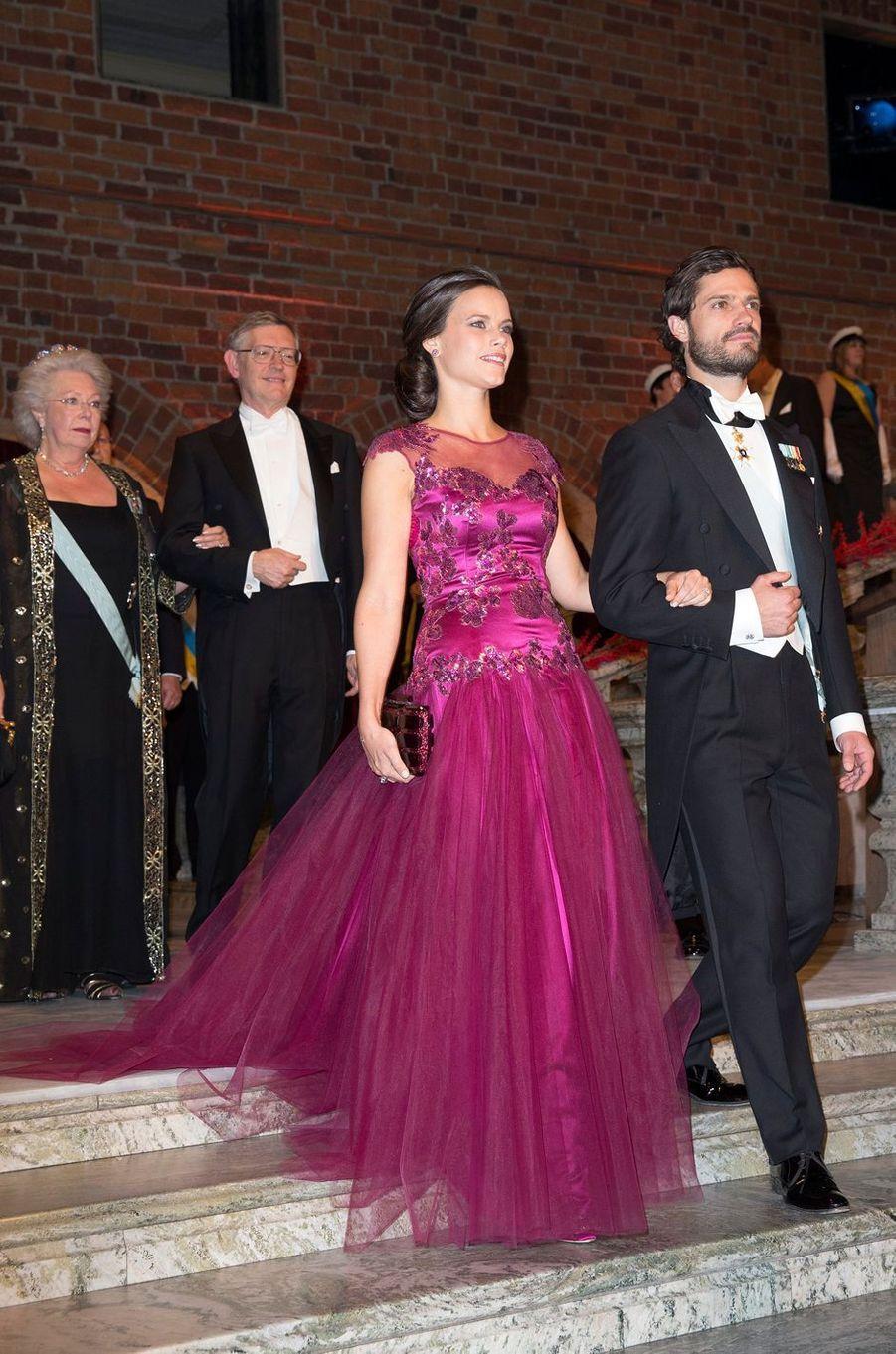 La princesse Sofia et le prince Carl Philip de Suède, le 10 décembre 2014